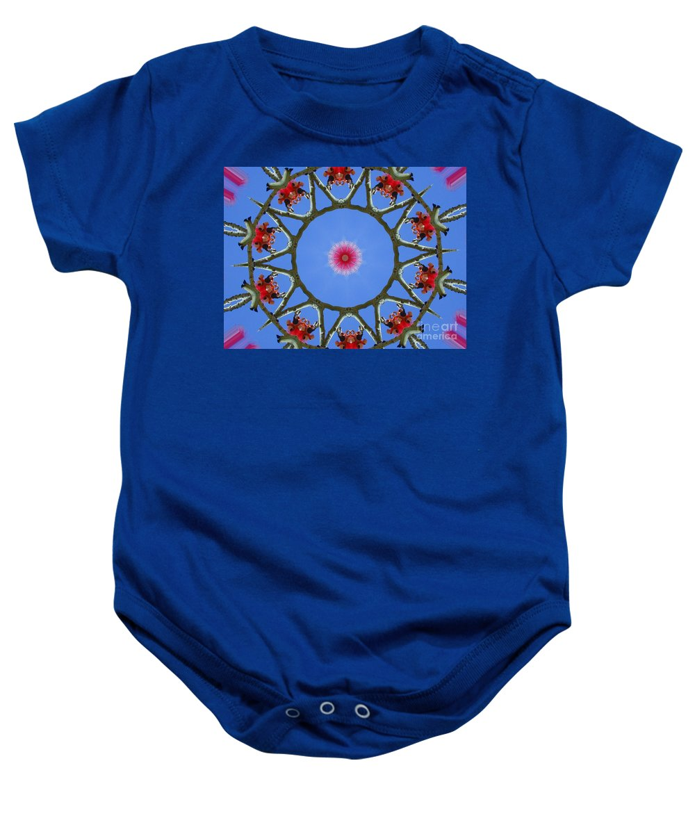 Kaleidoscope Baby Onesie featuring the photograph Hawaiian Flora by Mark Gilman