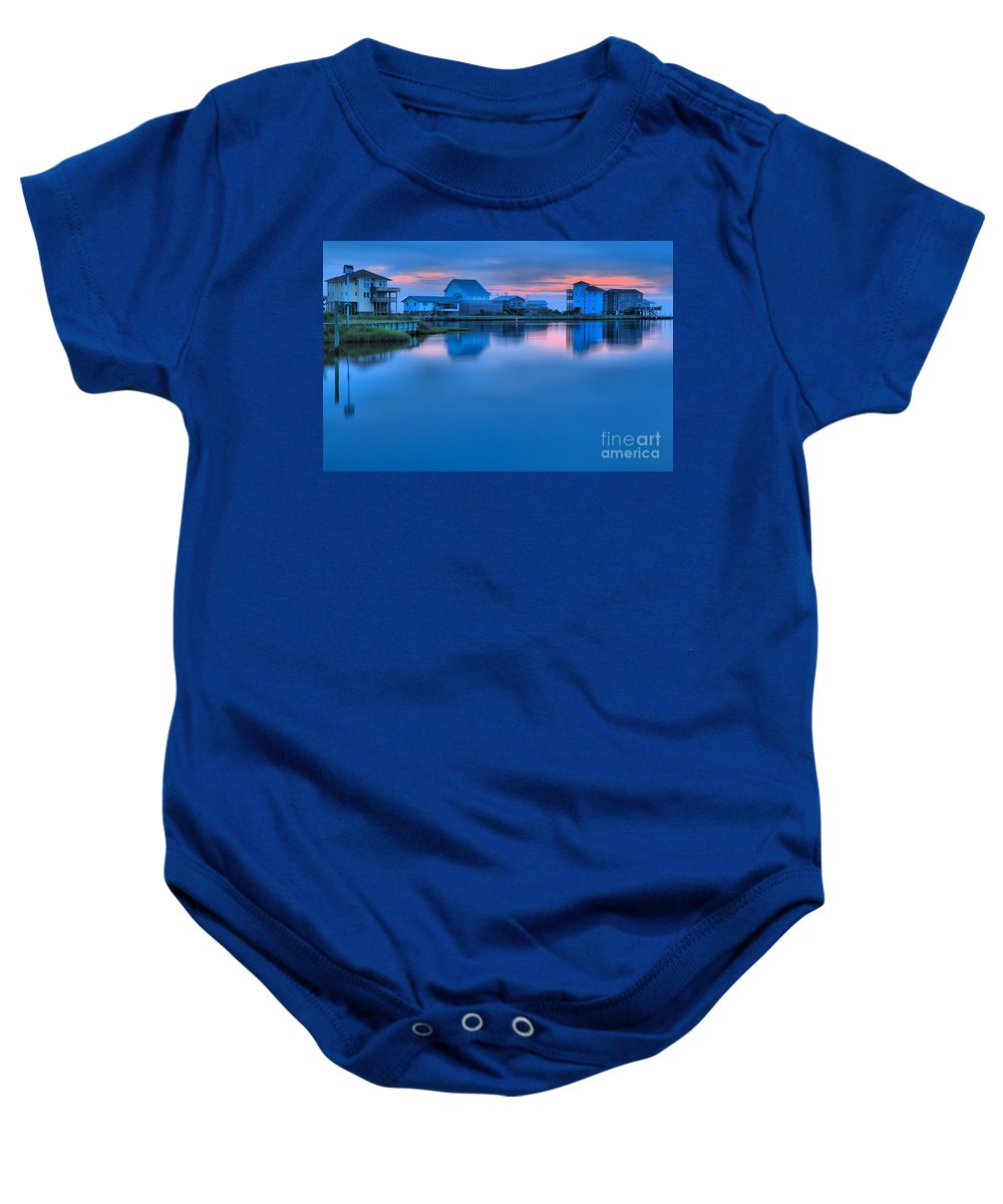 North Carolina Outer Banks Baby Onesie featuring the photograph Highlights From The Sky by Adam Jewell