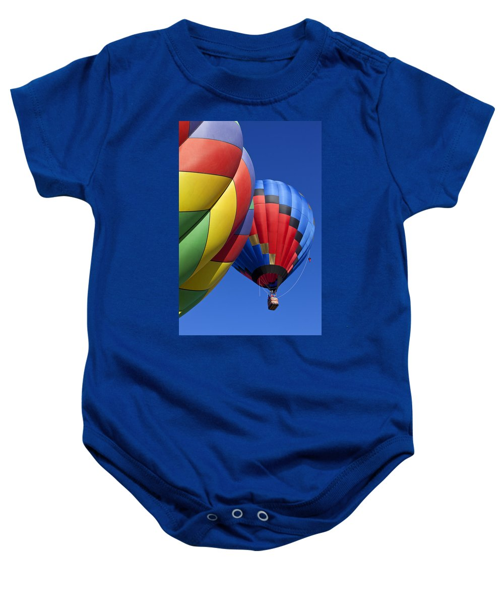 Hot Air Balloon Baby Onesie featuring the photograph Hot Air Ballons by Garry Gay