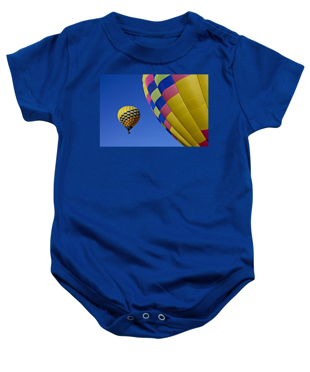 Hot Air Balloons Baby Onesie featuring the photograph Hot Air Balloons by Garry Gay