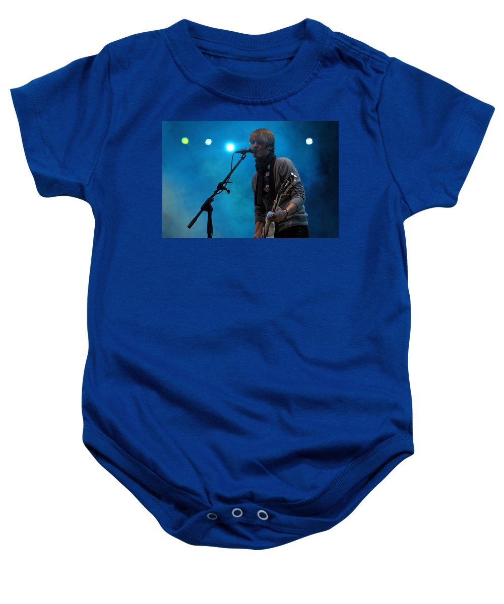 Inem Baby Onesie featuring the photograph Inem Blue by Munir Alawi