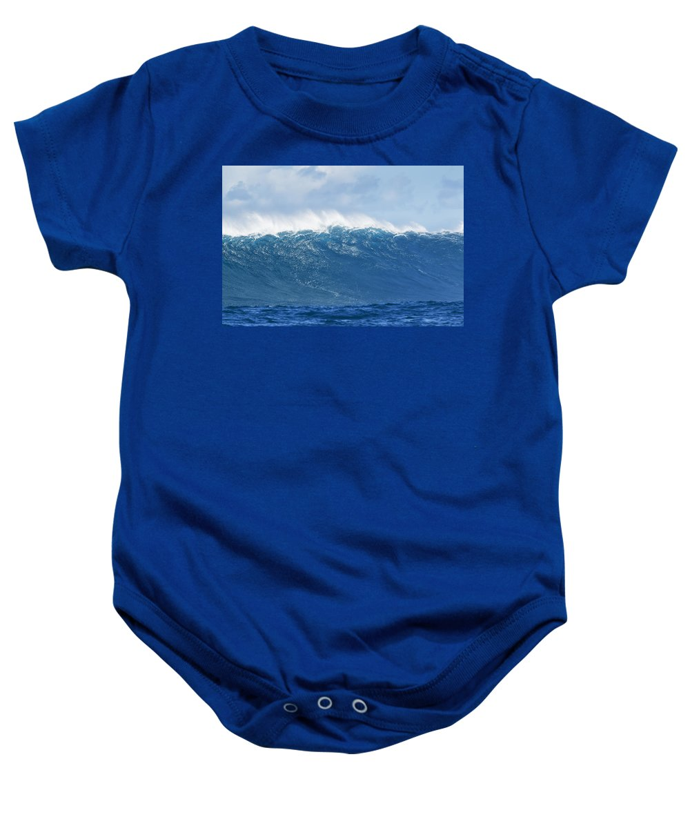 Big Baby Onesie featuring the photograph Jaws Wave by MakenaStockMedia - Printscapes