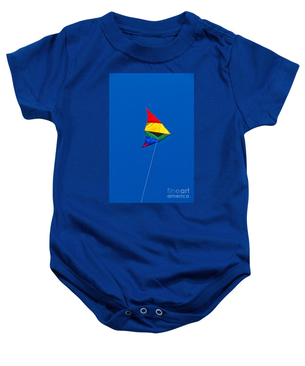 Kite Baby Onesie featuring the photograph Kite by John Greim