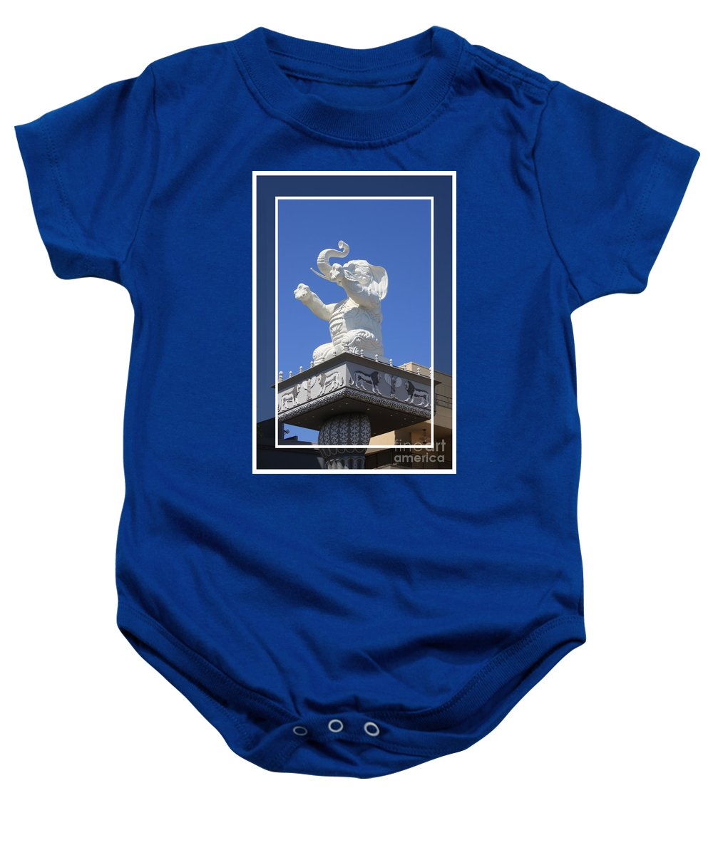 Kodak Theater Baby Onesie featuring the photograph Kodak Theater by Tommy Anderson