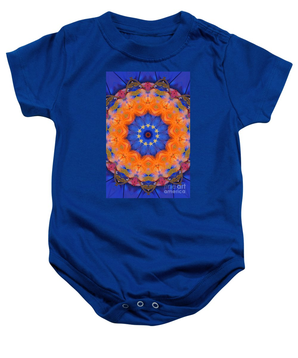 Kaleidoscope Baby Onesie featuring the photograph Mermaid 1 by Mark Gilman