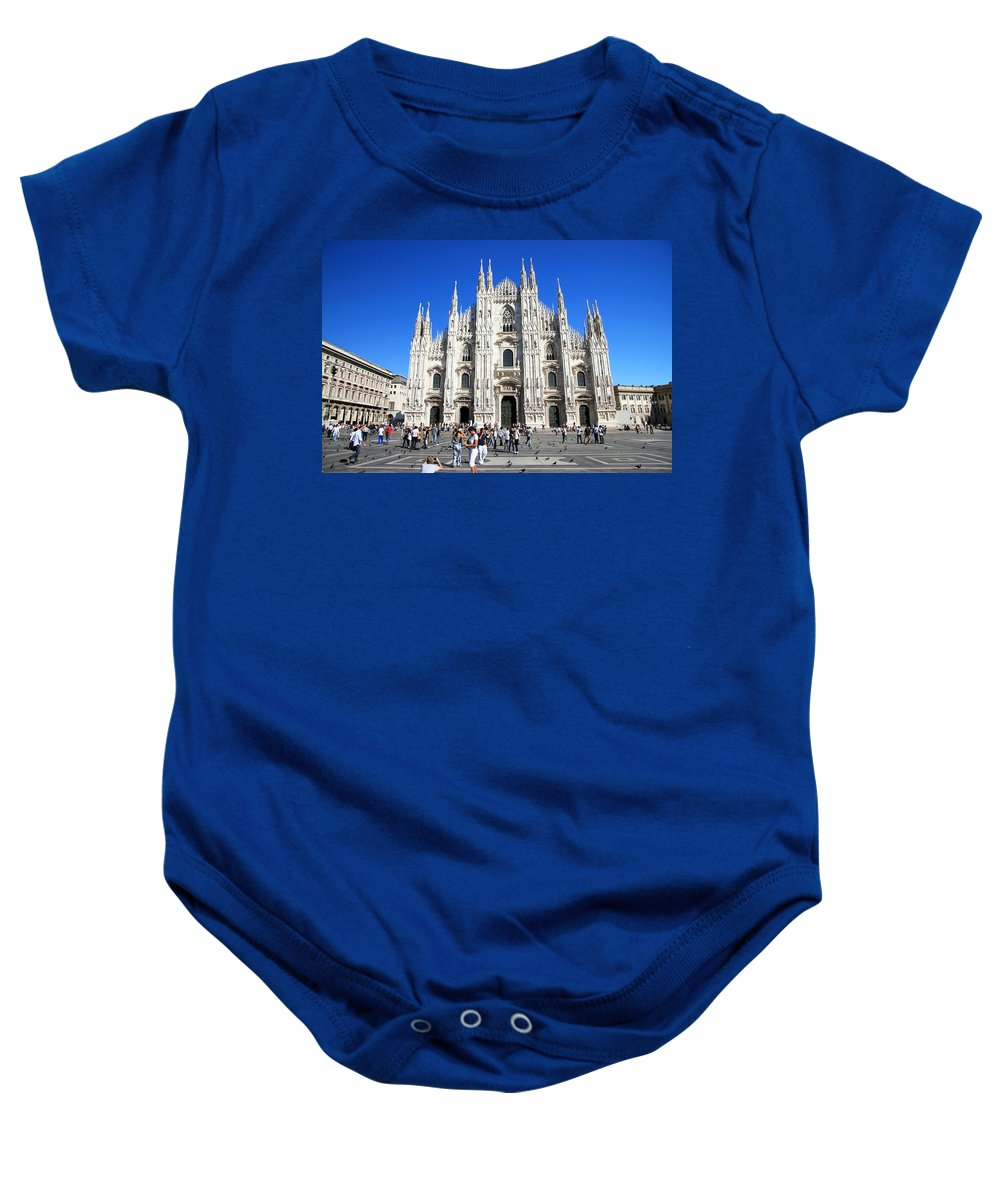 Milan Baby Onesie featuring the photograph Milan Duomo Cathedral by Valentino Visentini