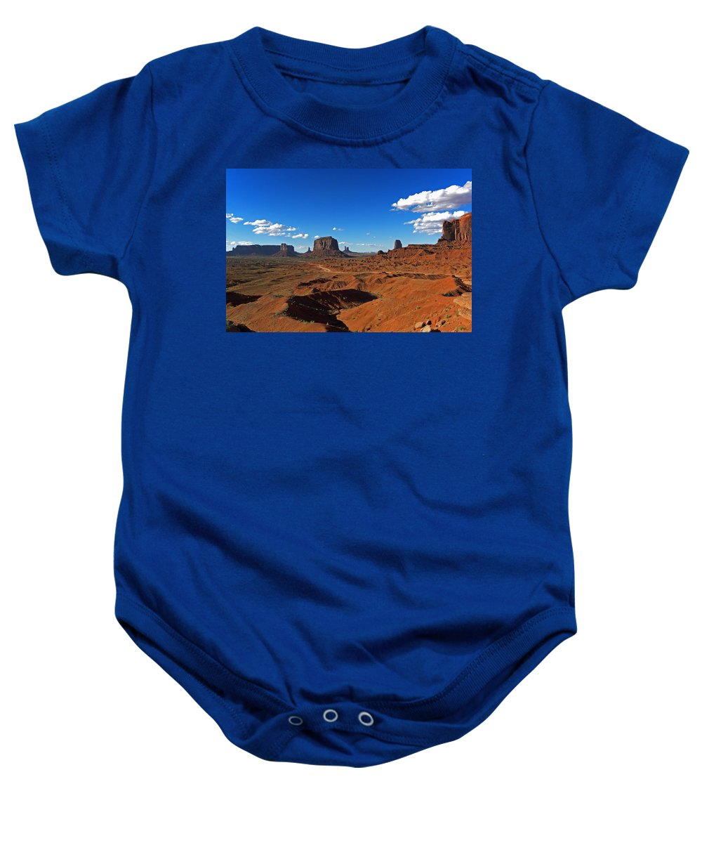 Monument Baby Onesie featuring the photograph Monument Valley by David Pringle
