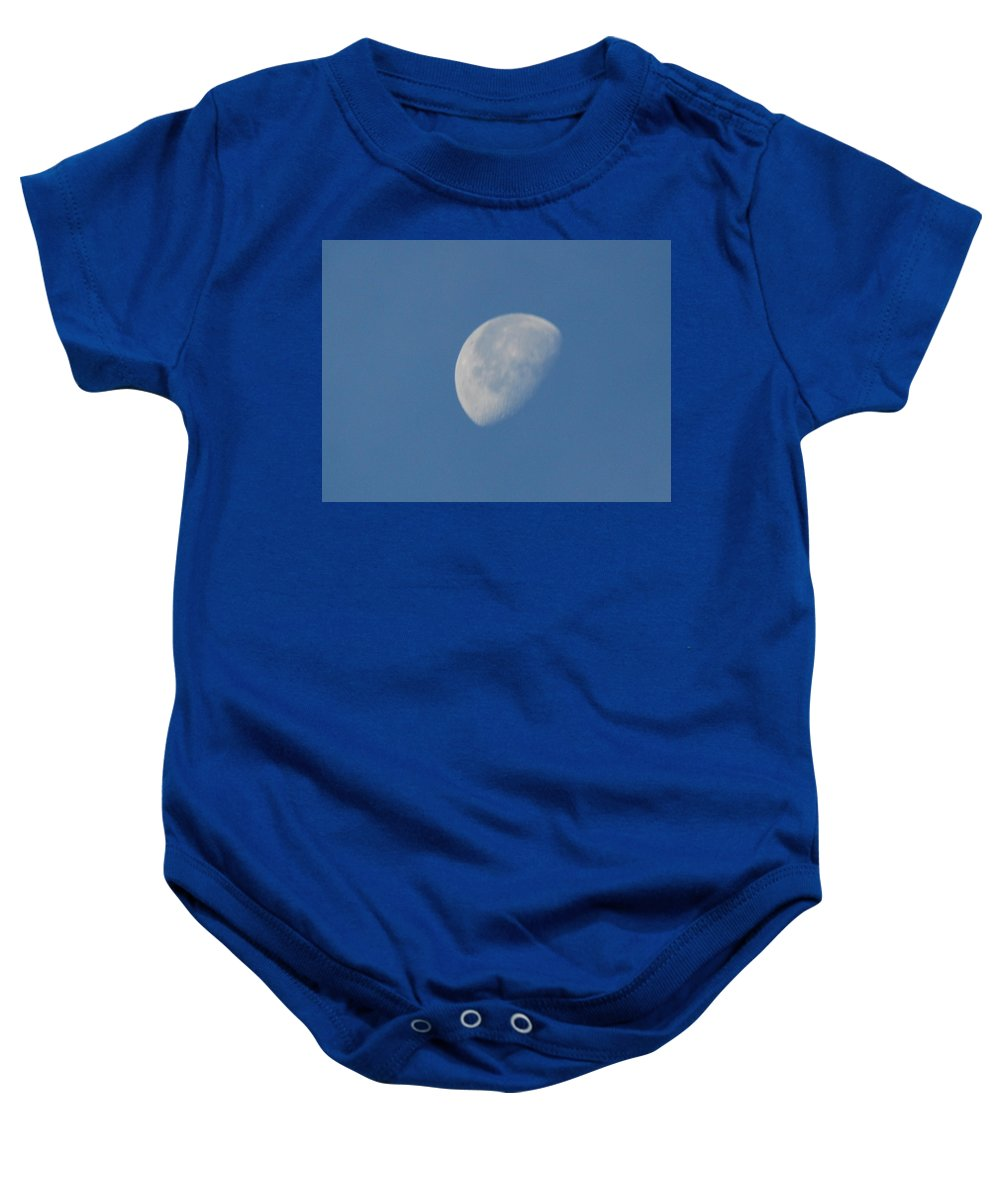 Moon Baby Onesie featuring the photograph Morning Moon by Michael Merry