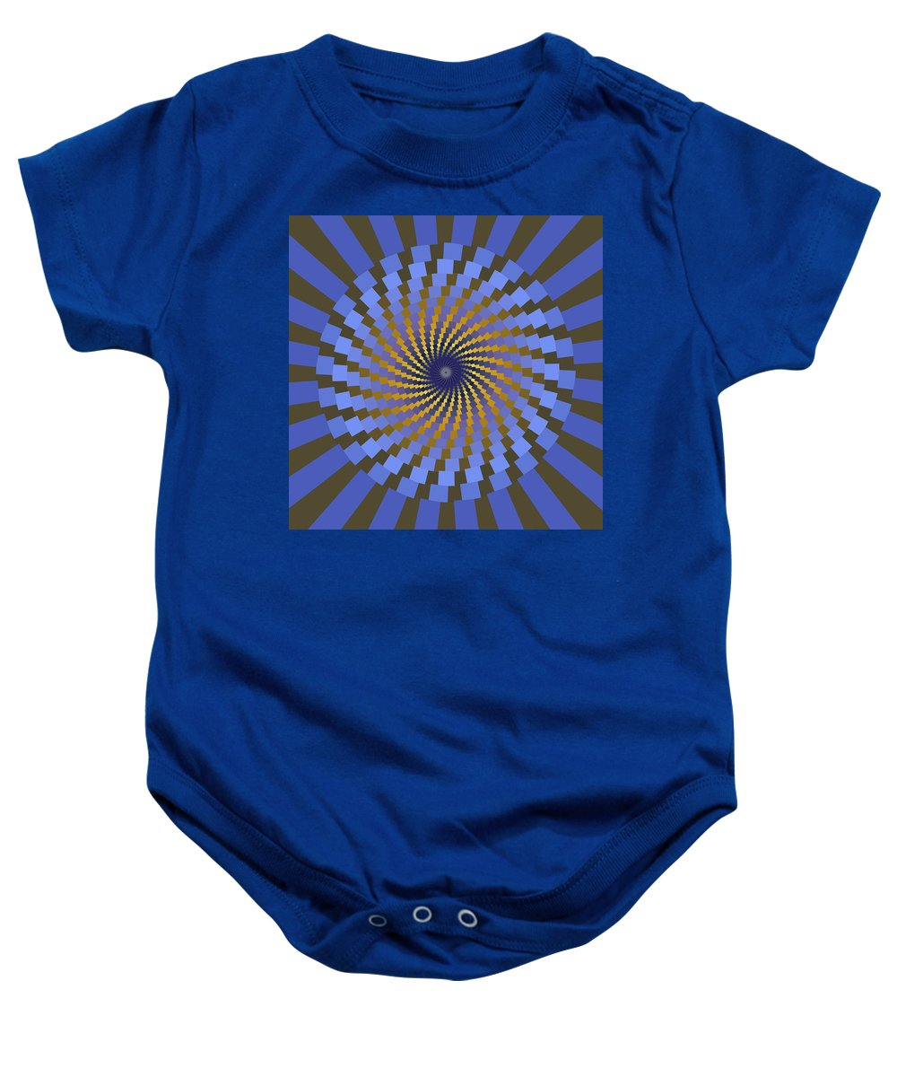 Fractal Baby Onesie featuring the digital art Ornament 2 by Mark Greenberg