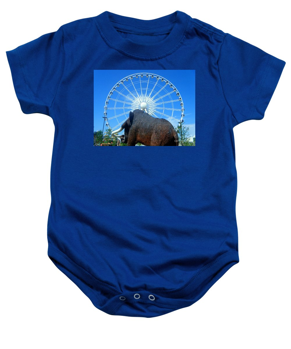Skywheel Baby Onesie featuring the photograph Over Mammoth Proportion by April Patterson