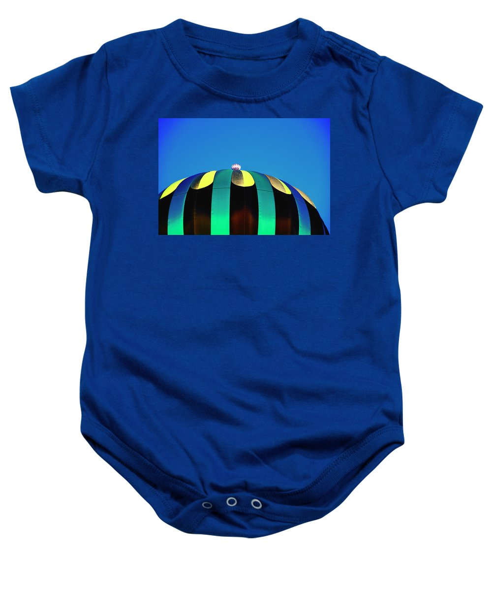 Hot Air Balloon Baby Onesie featuring the digital art Overdone Blue by Gary Baird