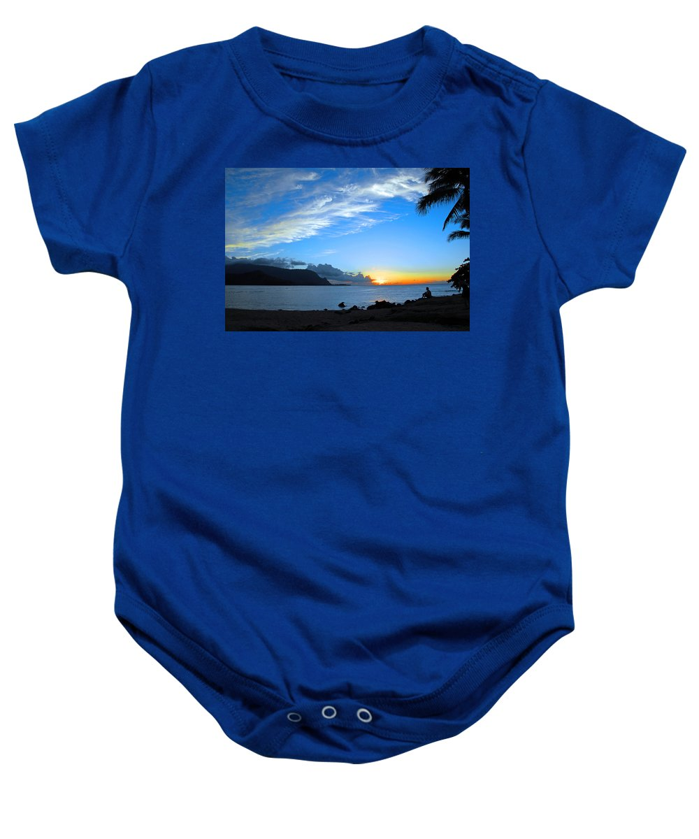 Sunsets Baby Onesie featuring the photograph Peaceful Solitude by Lynn Bauer