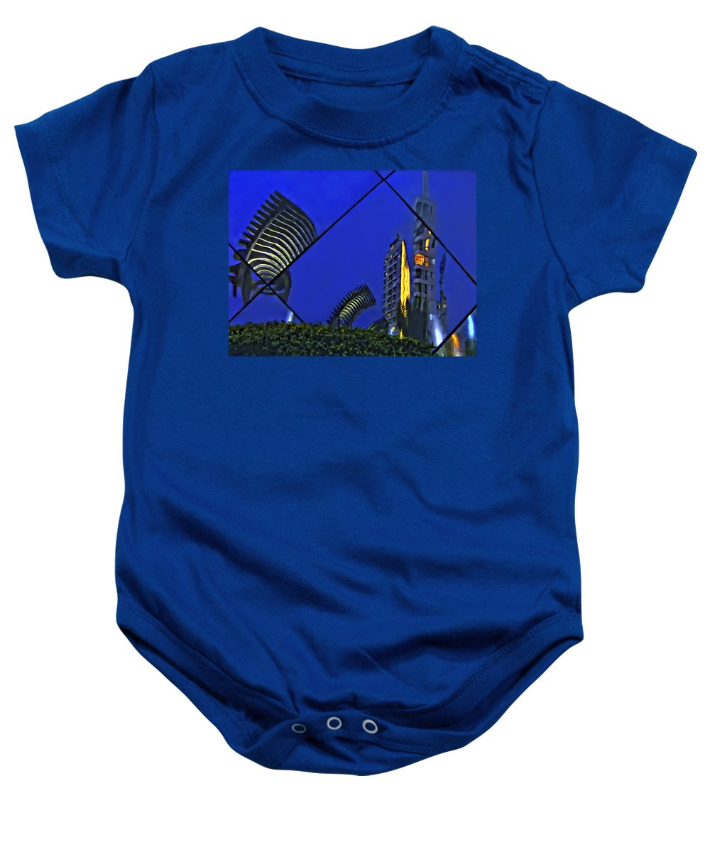 Reflection Baby Onesie featuring the photograph Peruvian Nights by Steve Harrington