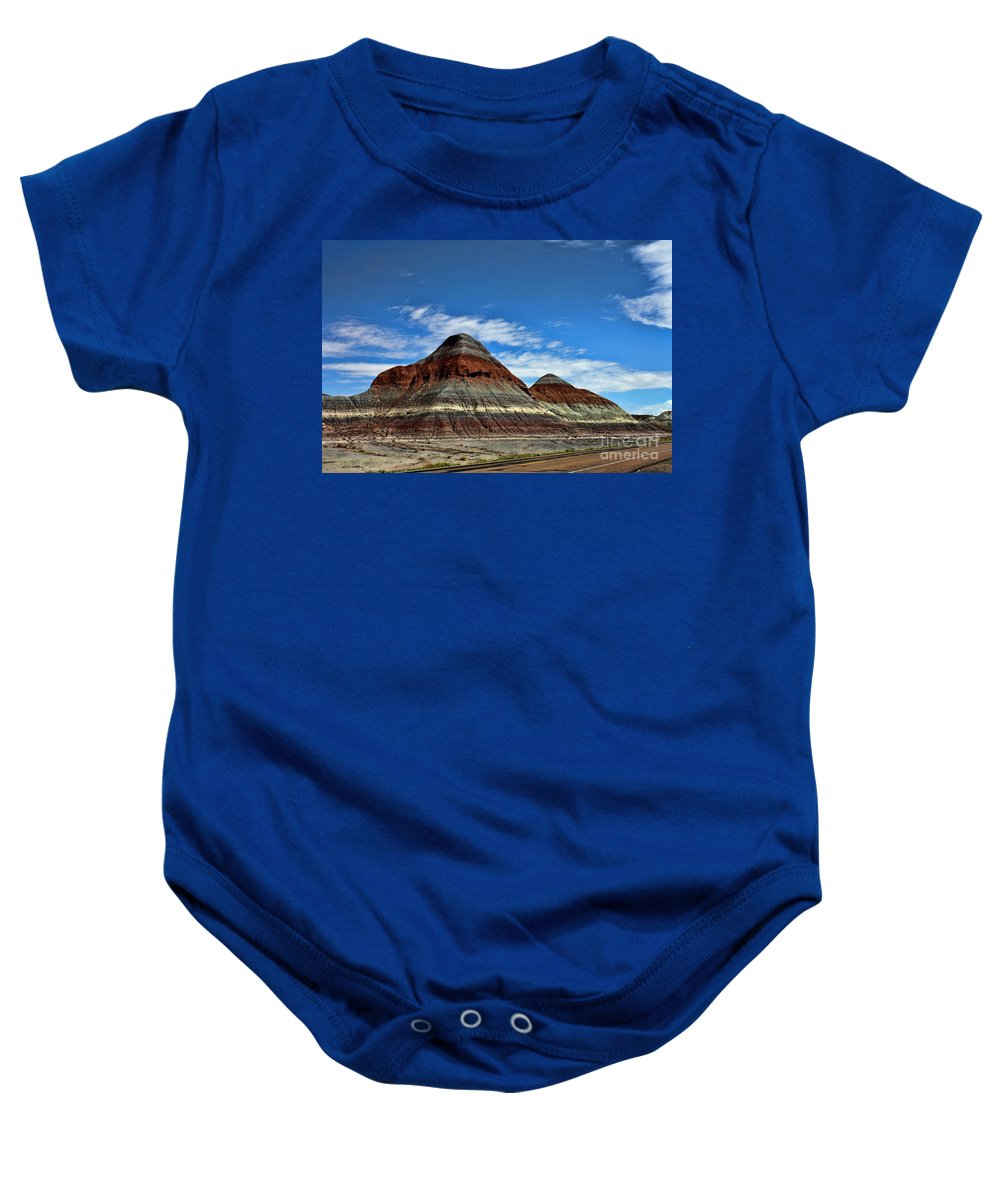 Petrified Forest National Park Baby Onesie featuring the photograph Petrified Forest National Park by Tommy Anderson