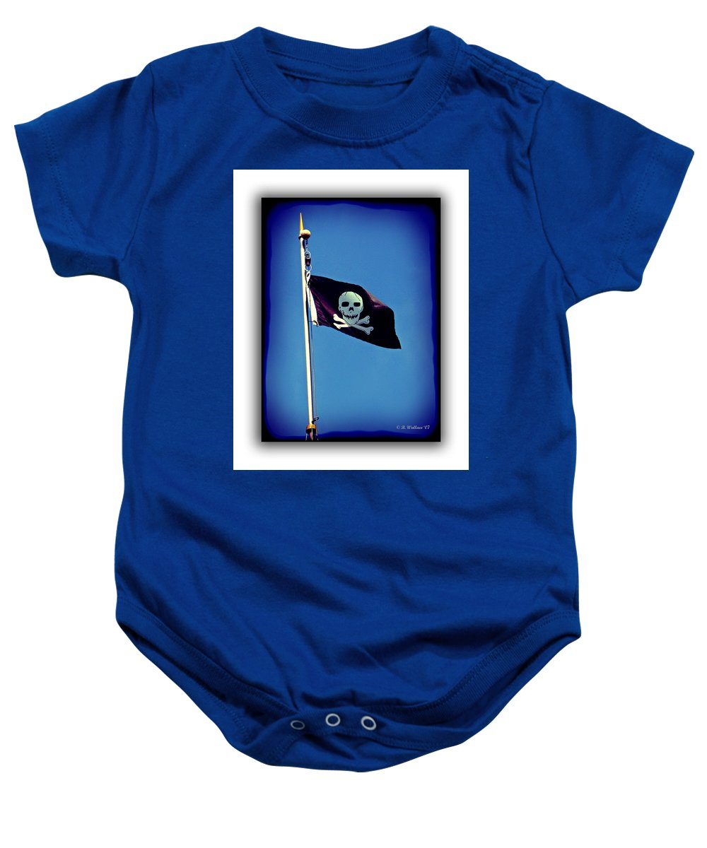 2d Baby Onesie featuring the photograph Pirate Flag by Brian Wallace