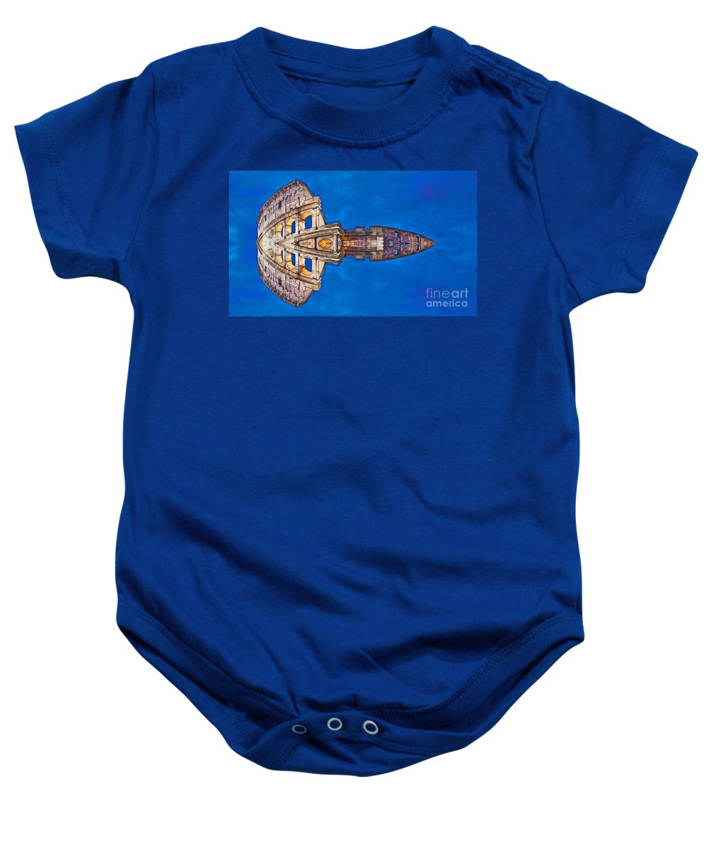 Archifou Baby Onesie featuring the digital art Romano Spaceship - Archifou 73 by Aimelle