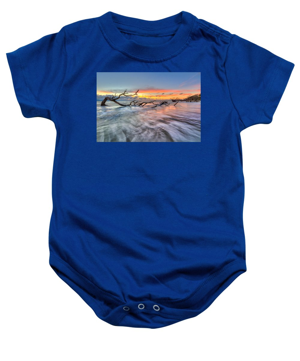 Clouds Baby Onesie featuring the photograph Rush by Debra and Dave Vanderlaan