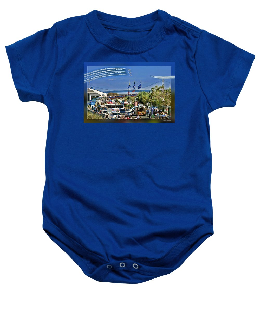 Art Photography Baby Onesie featuring the photograph San Francisco Fleet Week 2011 by Blake Richards