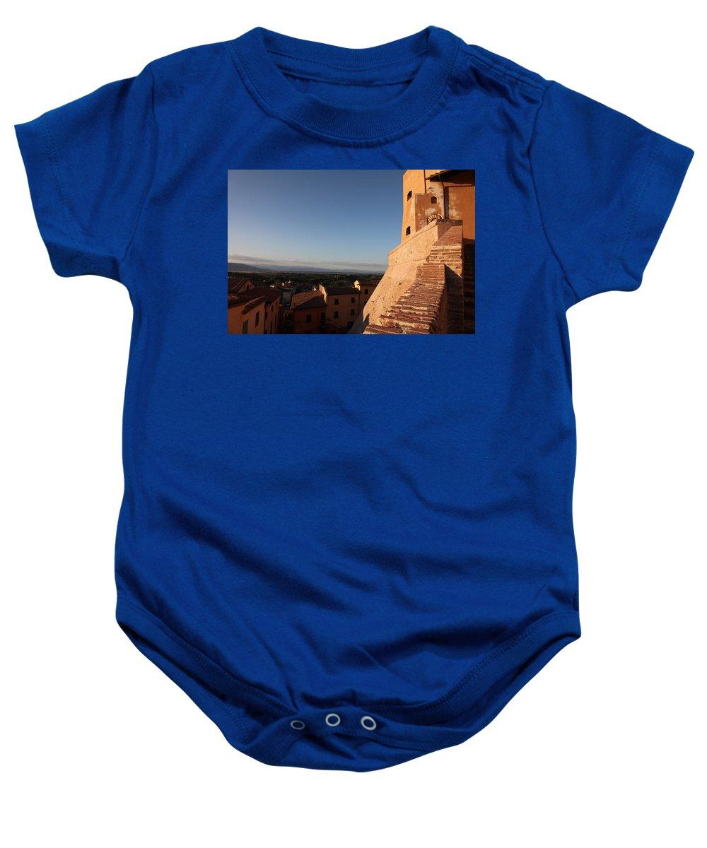 San Miniato Baby Onesie featuring the photograph San Miniato - Pisa by Francesco Scali