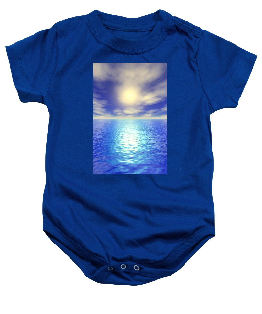 Clouds Baby Onesie featuring the photograph Scenic Ocean View by Paul Sale Vern Hoffman