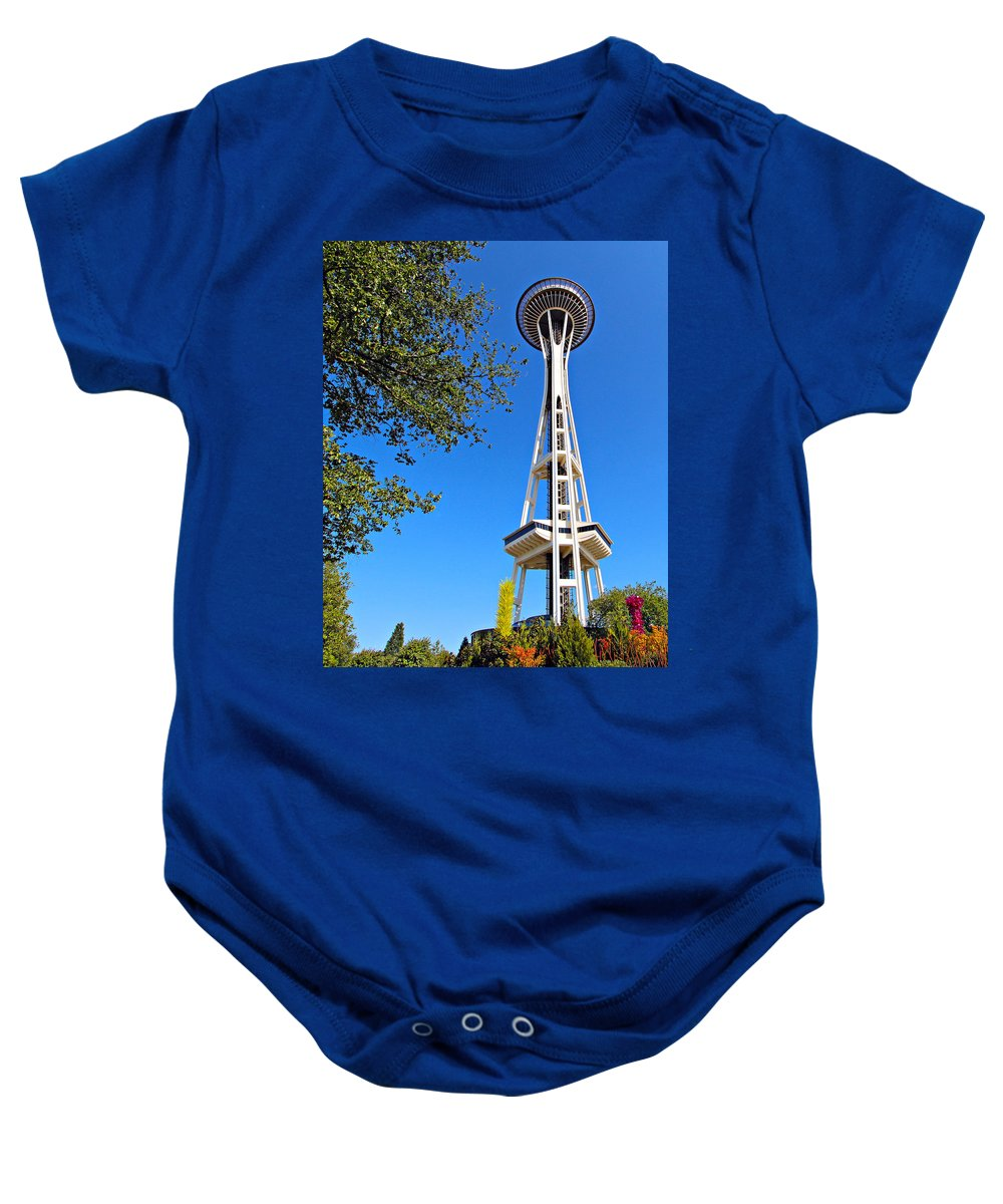 1962 Baby Onesie featuring the photograph Space Needle by Paul Fell
