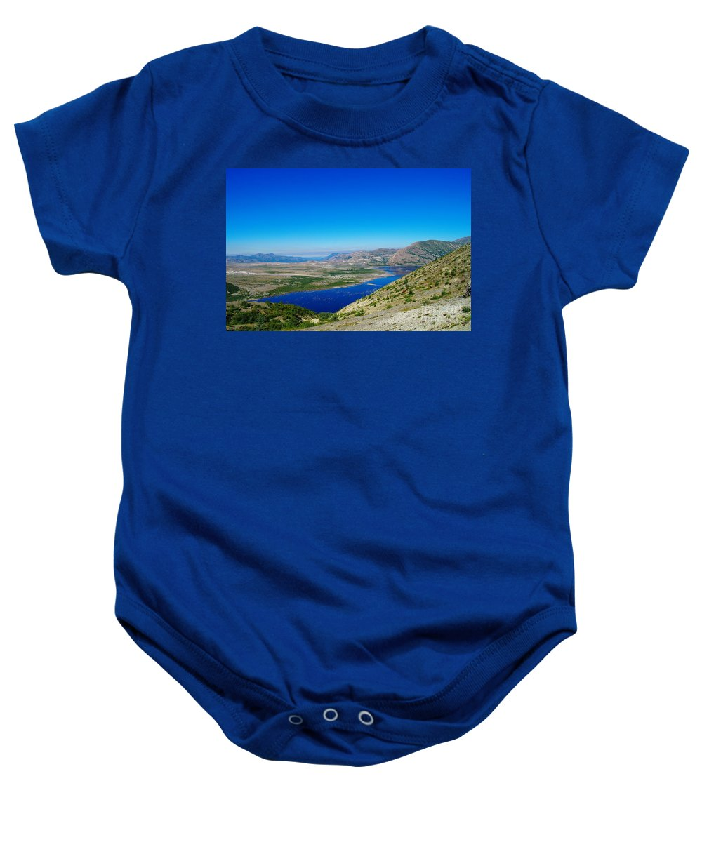 Lake Baby Onesie featuring the photograph Spirit Lake From Windy Point by Jeff Swan