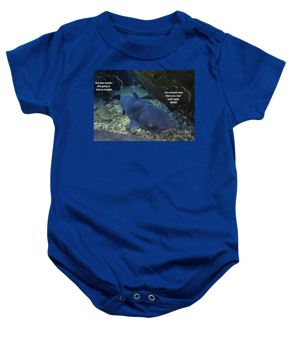 Fish Baby Onesie featuring the photograph Talking Fish by Donna Brown