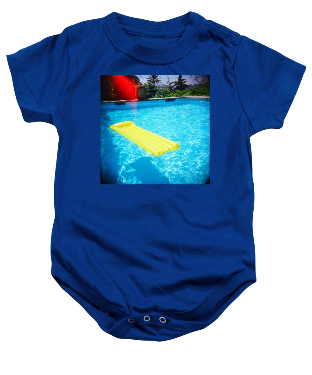 Holga Baby Onesie featuring the photograph The Swimming Pool by Olivier De Rycke