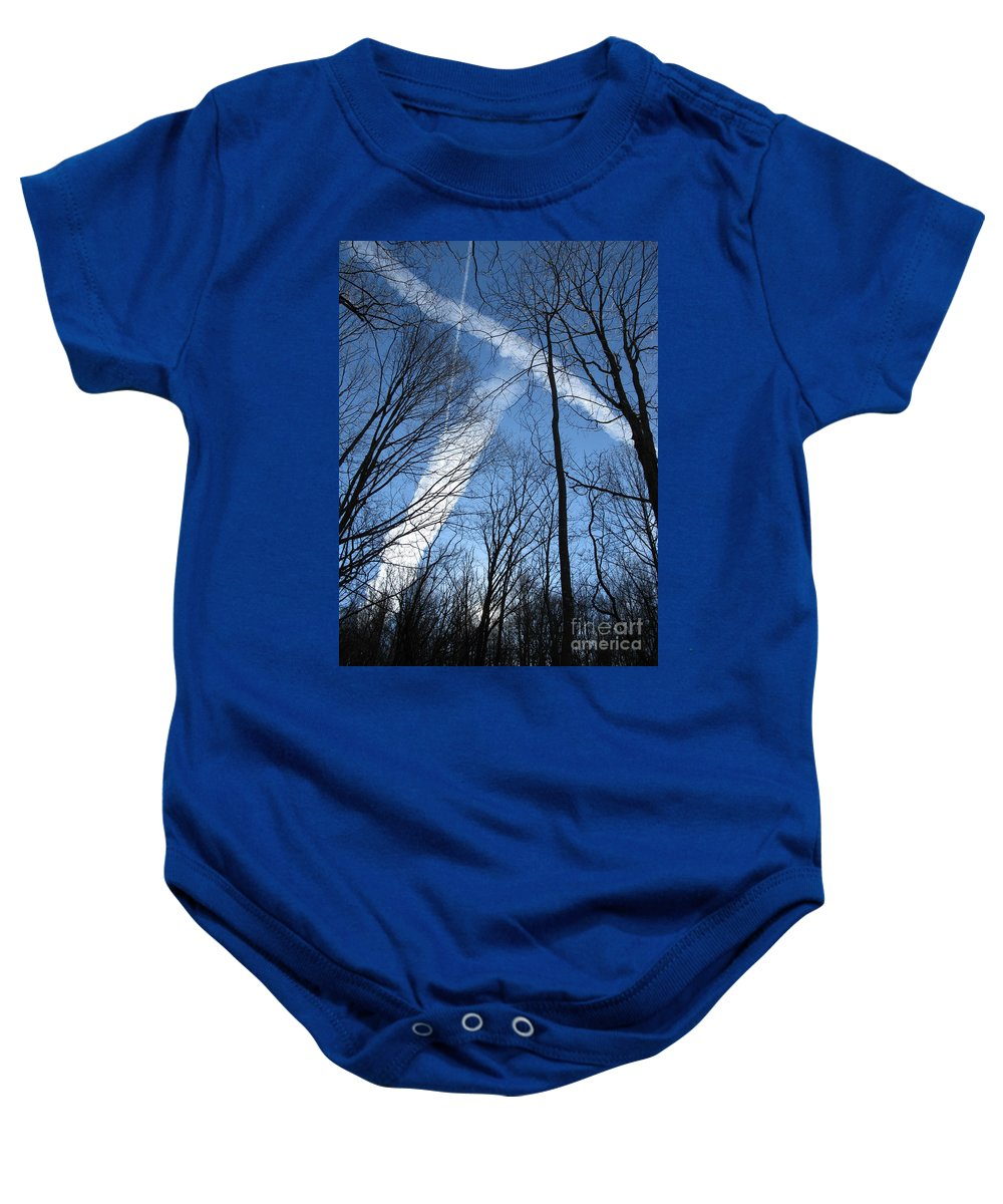 Tree Baby Onesie featuring the photograph Trees And Trails by Ausra Huntington nee Paulauskaite