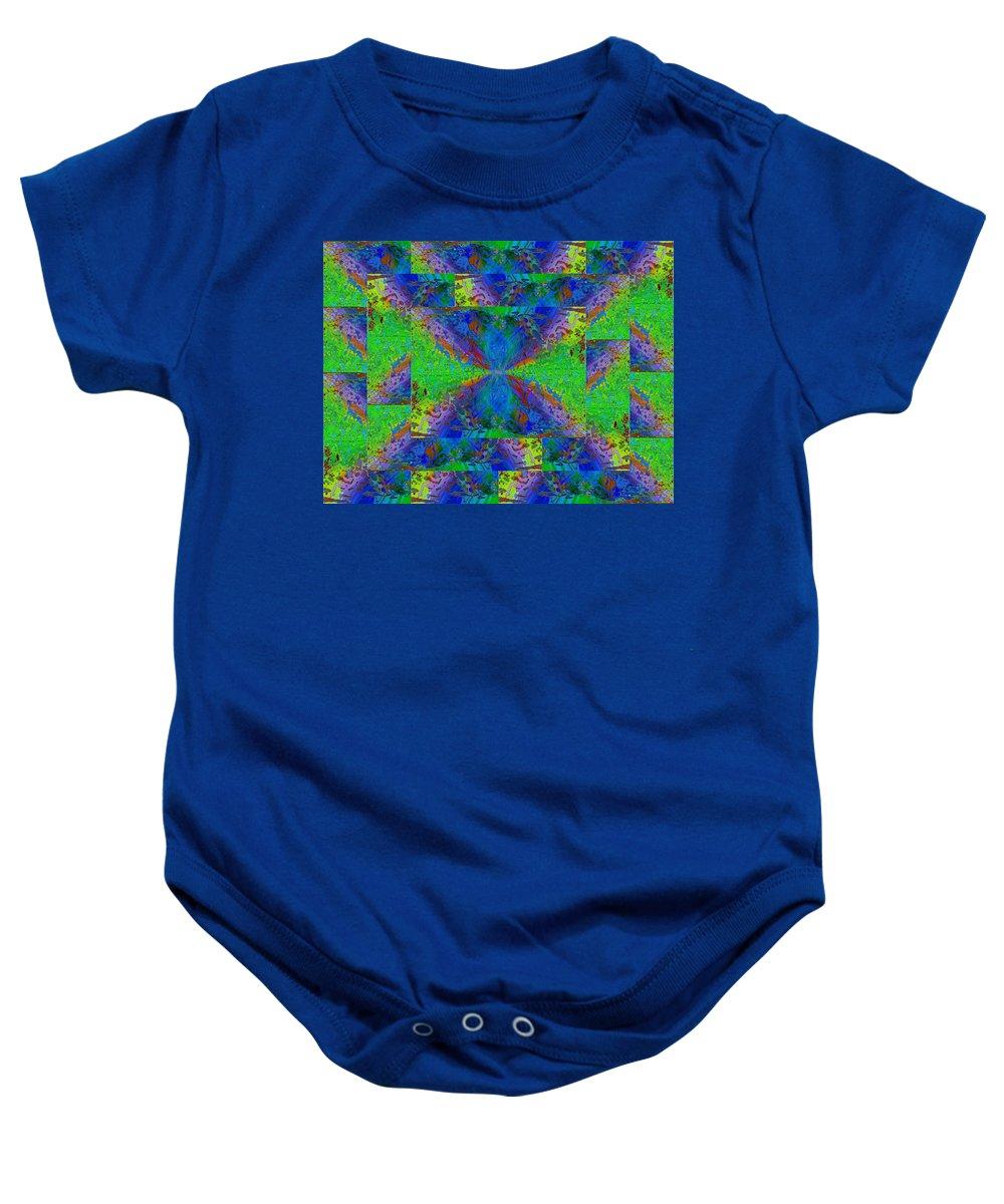 Abstract Baby Onesie featuring the digital art Triangulation by Tim Allen