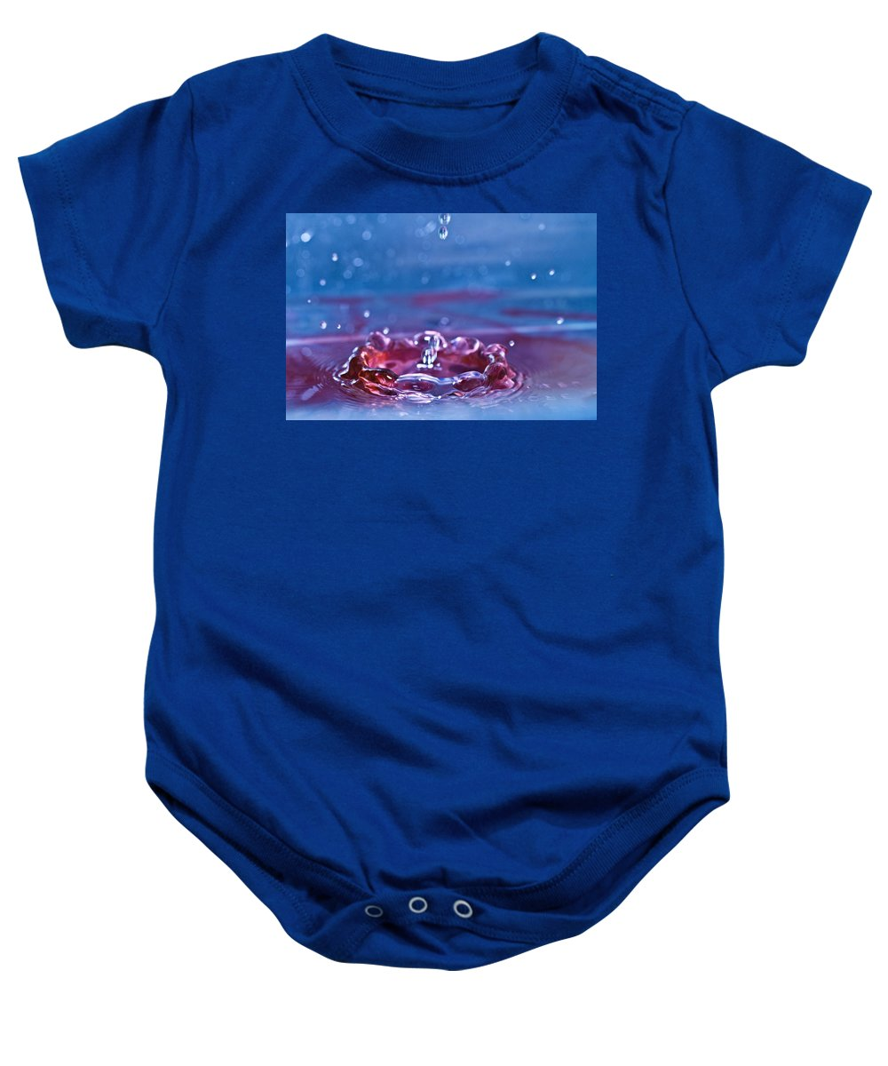 Water Baby Onesie featuring the photograph Waterdrop10 by Danielle Silveira