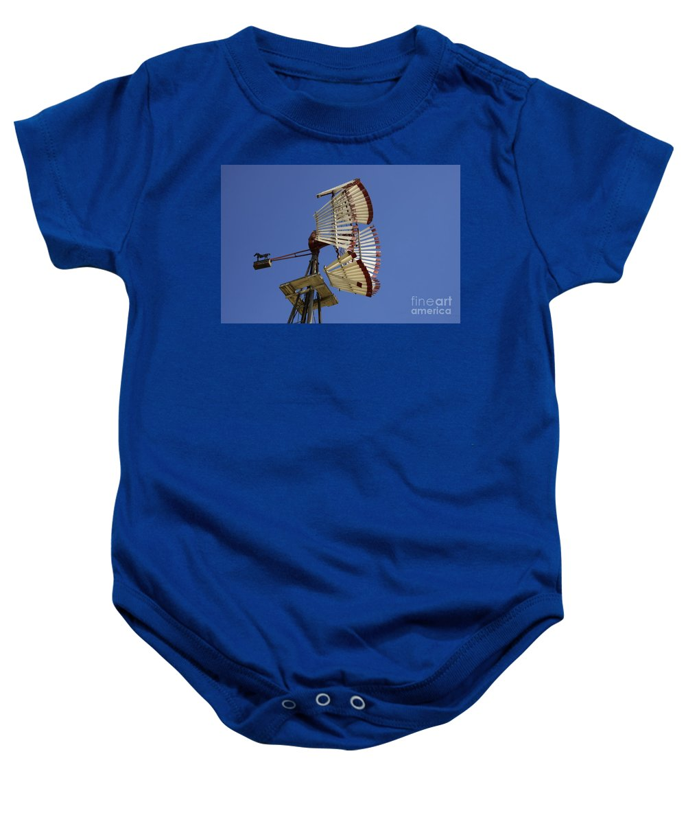 Windmill Baby Onesie featuring the photograph Windmill 8 by Bob Christopher