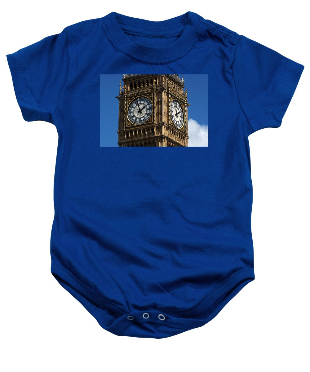 Big Ben Baby Onesie featuring the photograph Palace Of Westminster by Chris Day