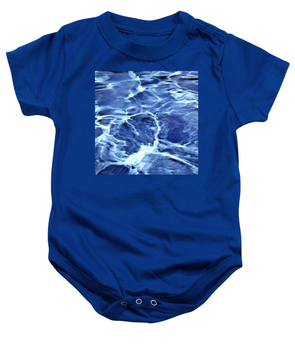 Blue Baby Onesie featuring the photograph Abstract by Daniel Csoka