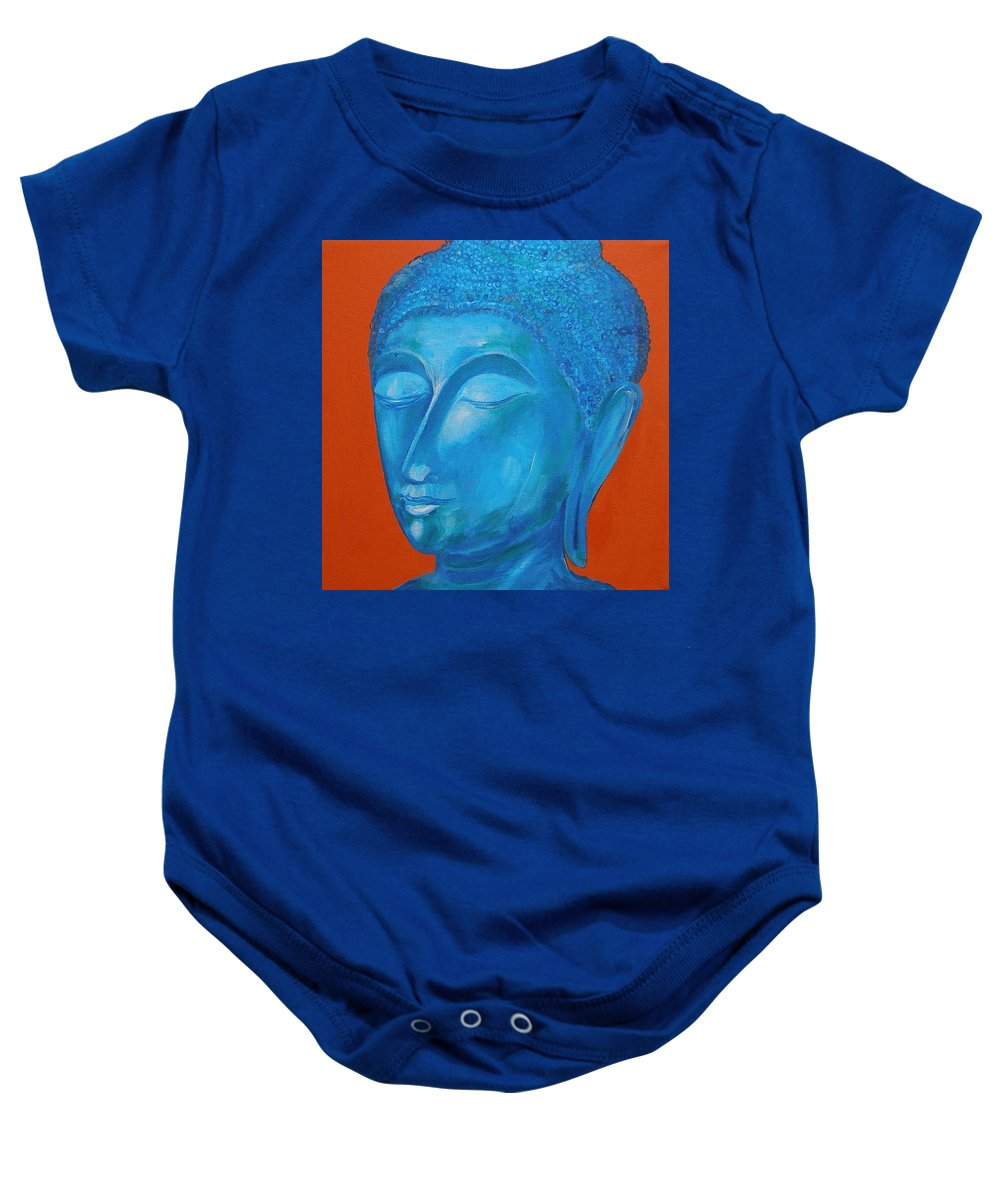 Original Painting Baby Onesie featuring the painting Buddah I by Sue Wright