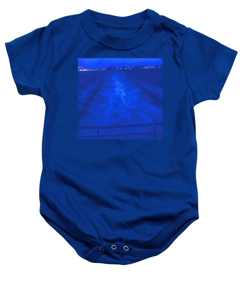 Bermuda Baby Onesie featuring the photograph Evening Fast Ferry by Ian MacDonald