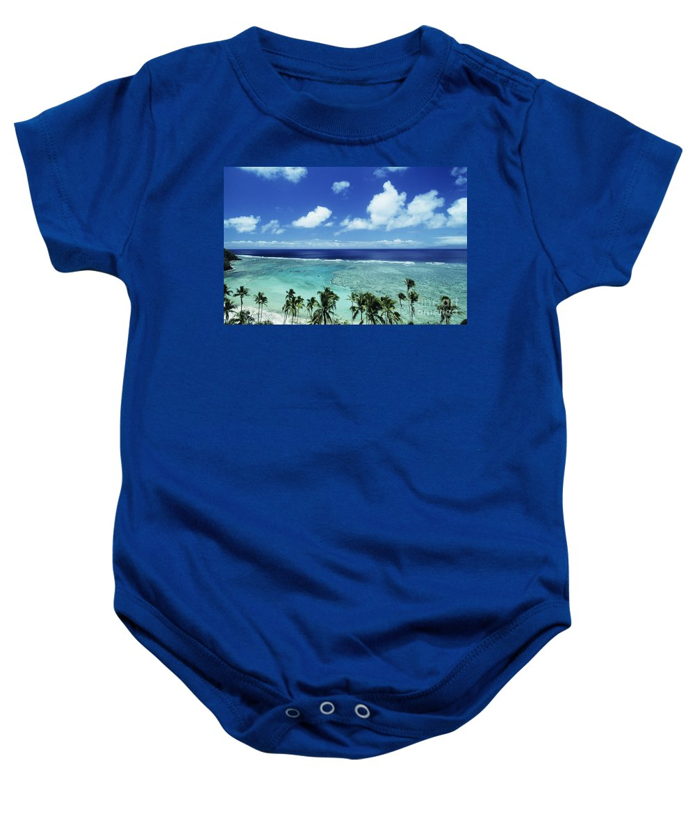 Beach Baby Onesie featuring the photograph Fiji, Wakaya Island by Larry Dale Gordon - Printscapes
