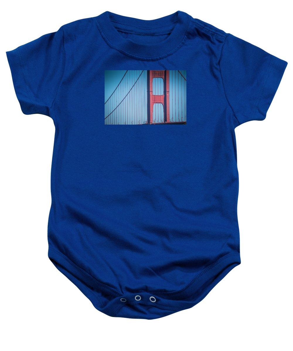 San Francisco Baby Onesie featuring the photograph Golden Gate Bridge by Jayasimha Nuggehalli