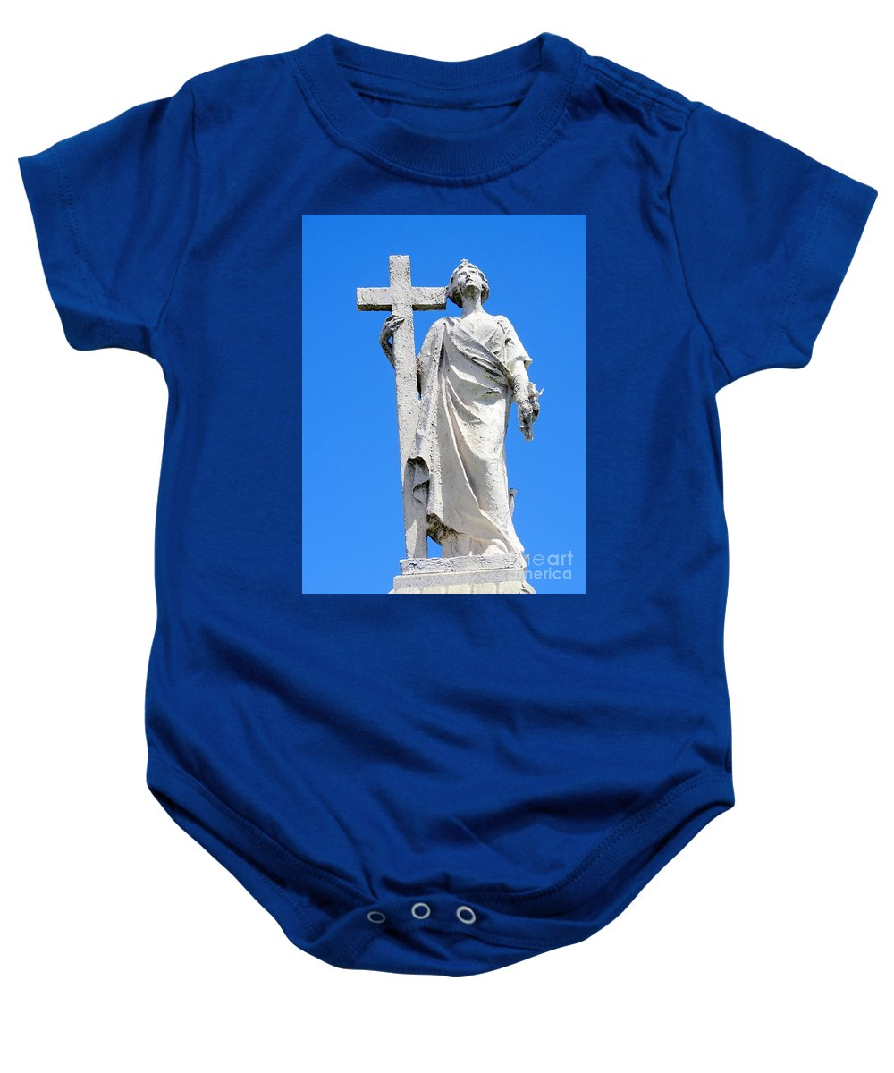 Statue Baby Onesie featuring the photograph Looking To Heaven by Ed Weidman