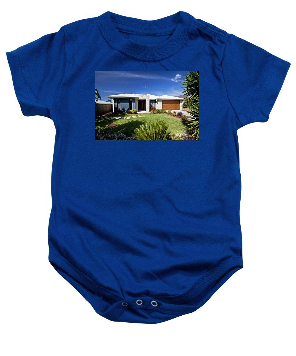 House Baby Onesie featuring the photograph Modern Home by Darren Burton