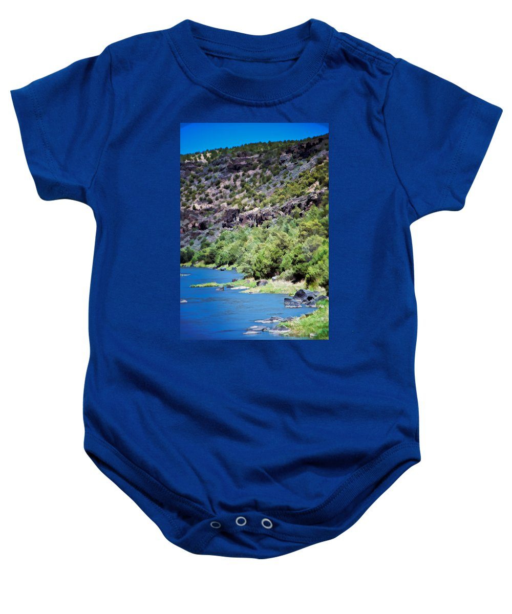 Rio Baby Onesie featuring the photograph Rio Grande Gorge by Charles Muhle