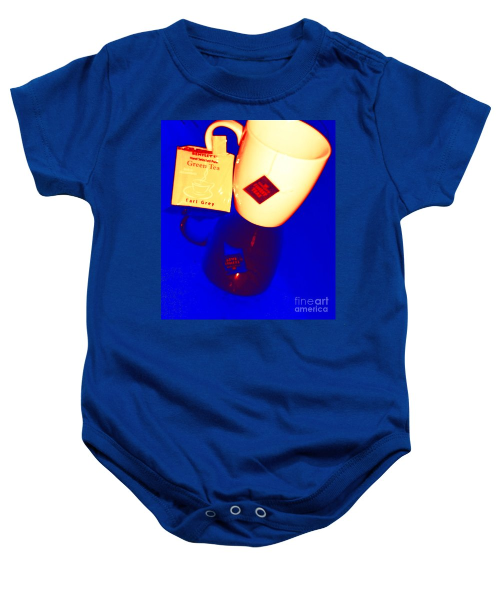 Tea Baby Onesie featuring the photograph Tea Time by Donna Bentley