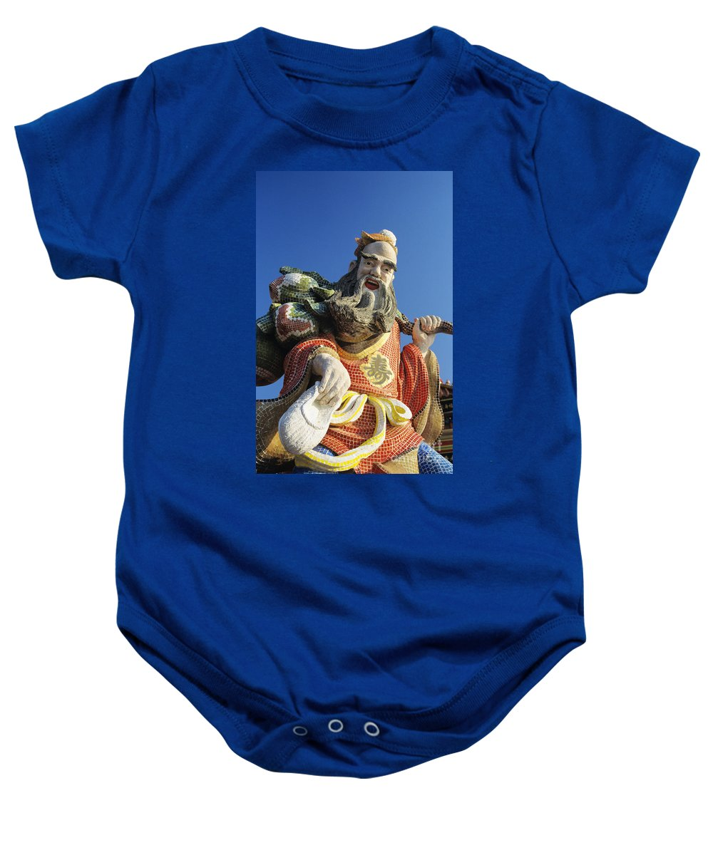 Afternoon Baby Onesie featuring the photograph Tin Hua Temple by Gloria & Richard Maschmeyer - Printscapes