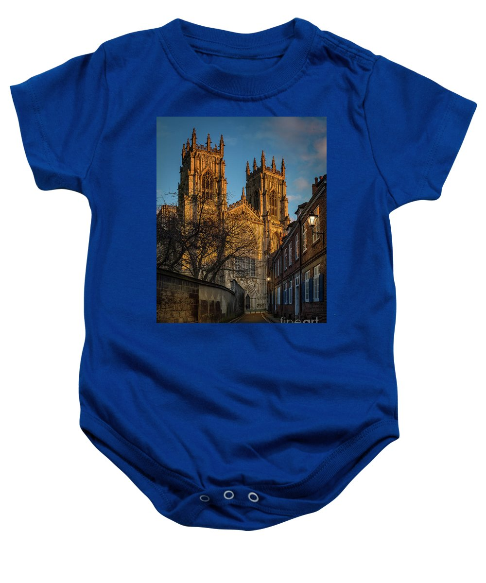 Building Baby Onesie featuring the photograph York Minster by Mark Bulmer