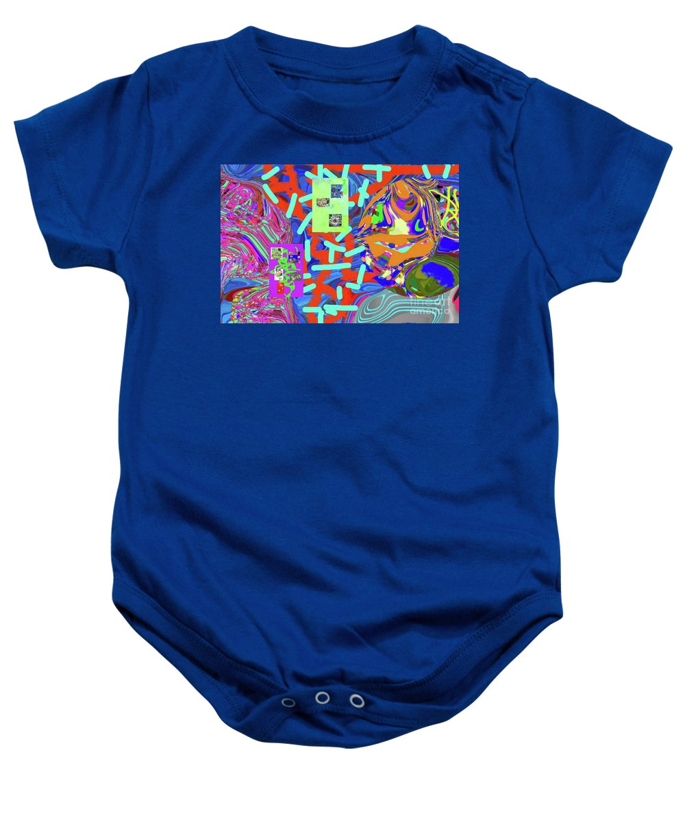 Walter Paul Bebirian Baby Onesie featuring the digital art 11-15-2015abcdefghij by Walter Paul Bebirian