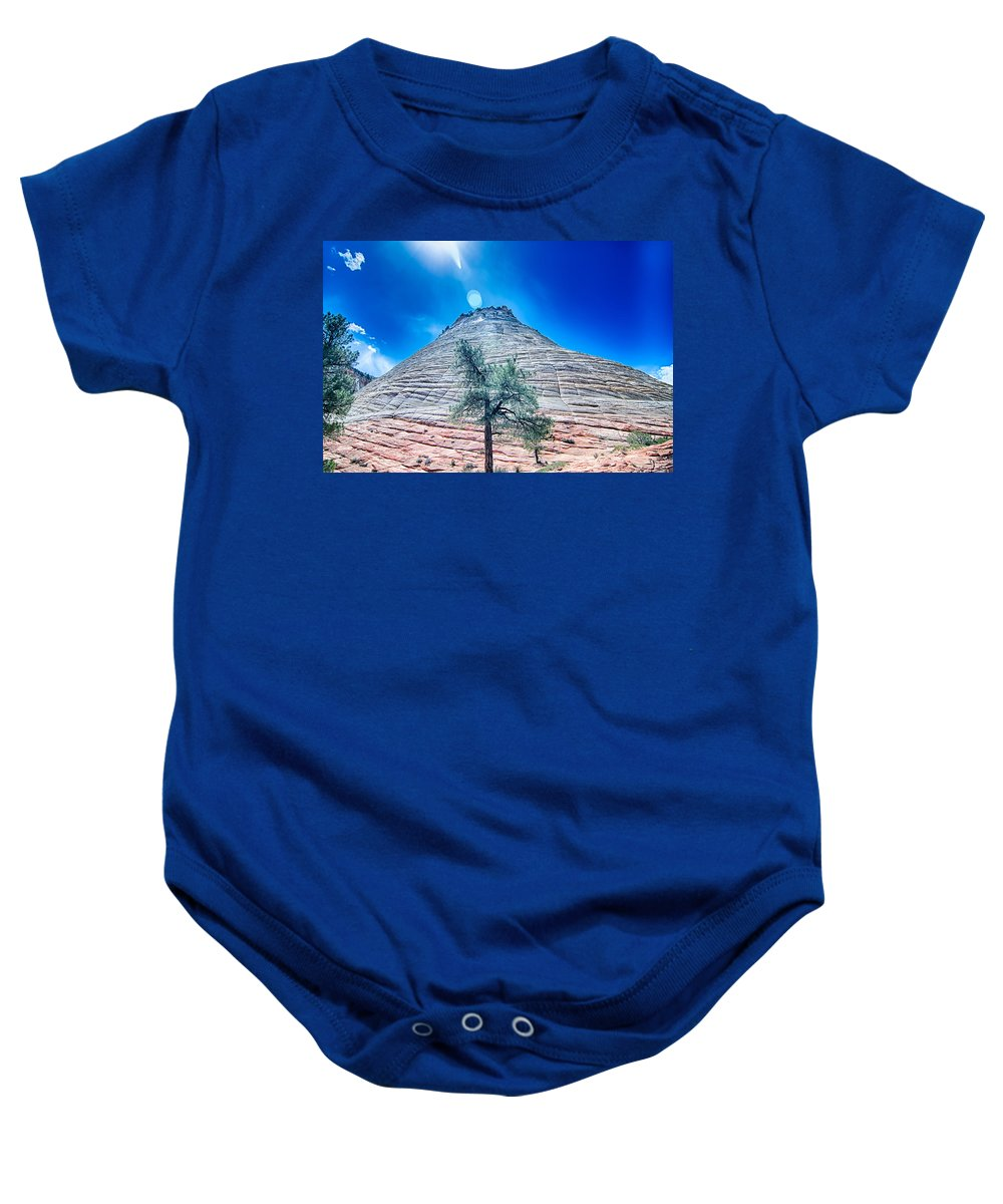 Zion Baby Onesie featuring the photograph Zion Canyon National Park Utah by Alex Grichenko