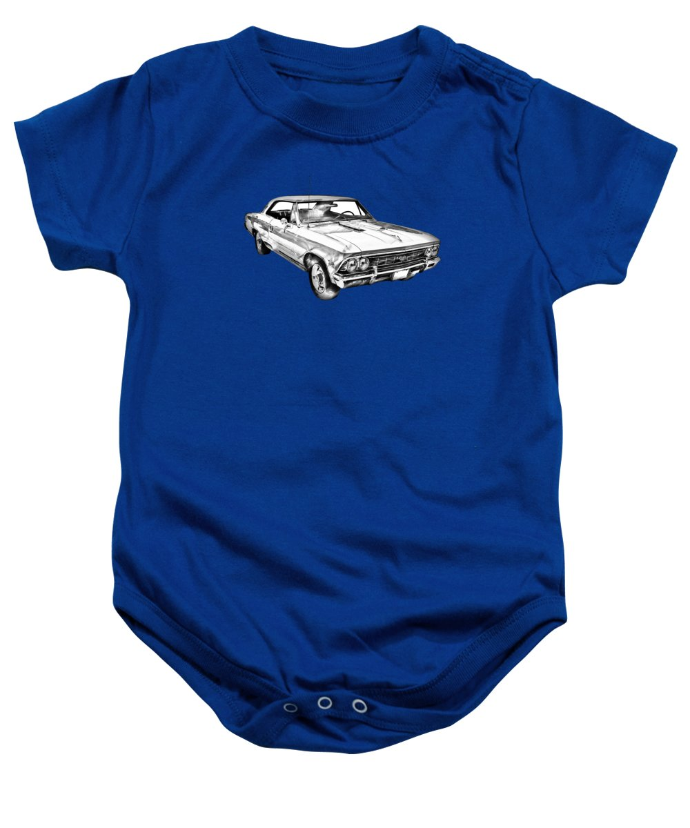 1966 Chevy Chevelle Ss 396 Illustration Onesie For Sale By Keith Chevrolet Automobile Baby Featuring The Photograph Webber Jr