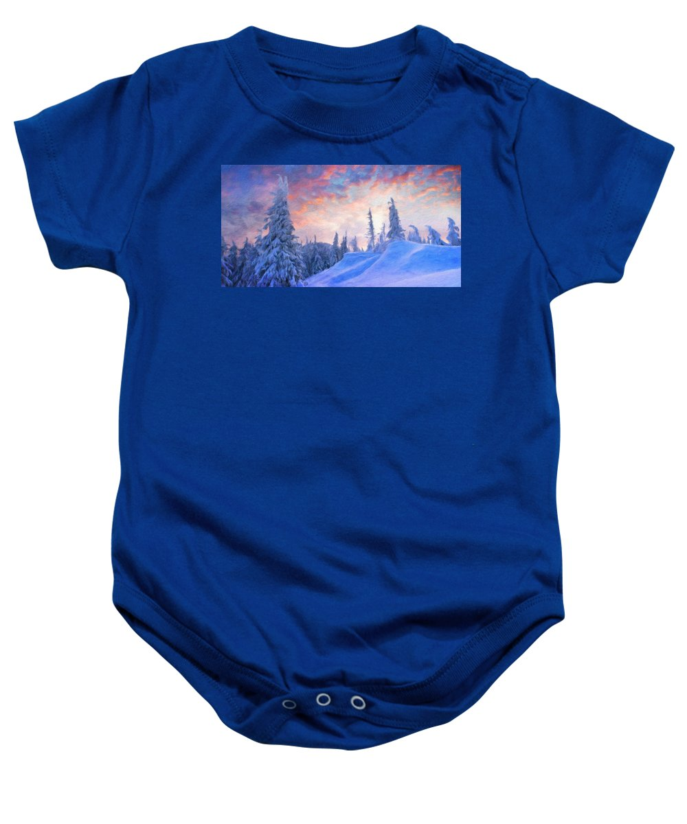 Landscape Baby Onesie featuring the painting Nature Landscape Jobs by World Map