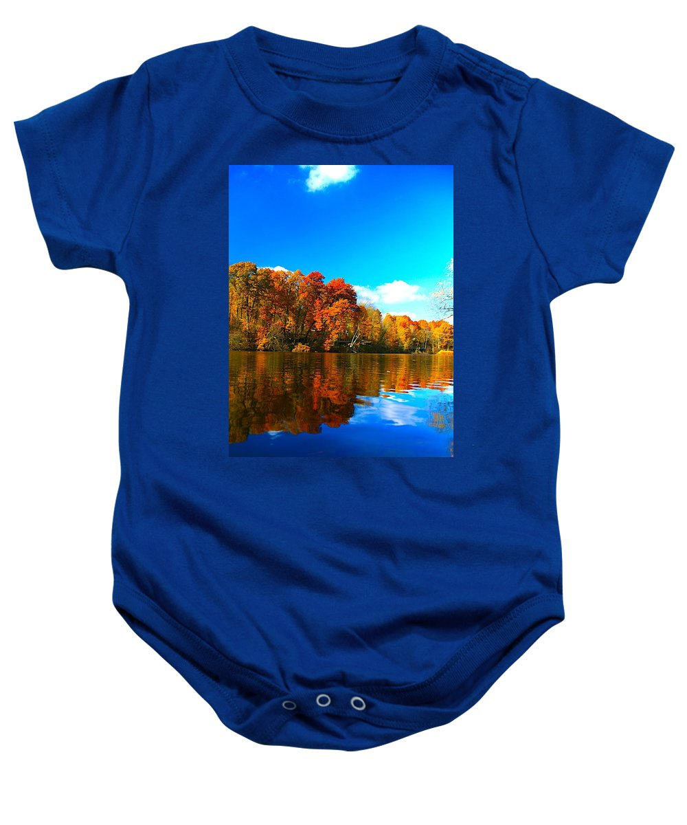 Related Tags: Fall Color Artwork Baby Onesie featuring the photograph A Fall Reflection by Robert Pearson