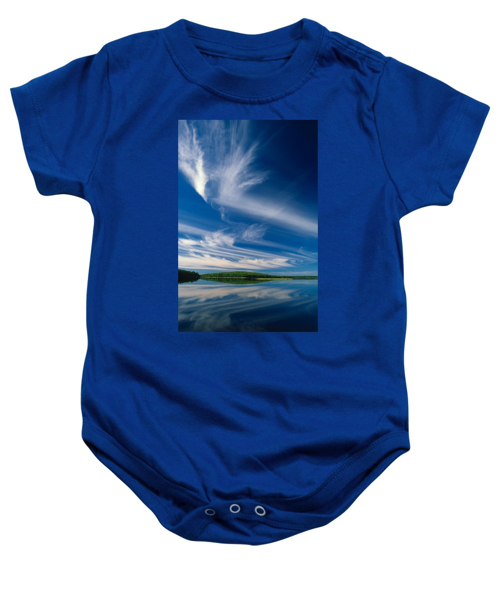 Lake Baby Onesie featuring the photograph A Touch Of Heaven by Irwin Barrett